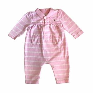 💜3/$10💜 Ralph Lauren Pink Striped Coverall